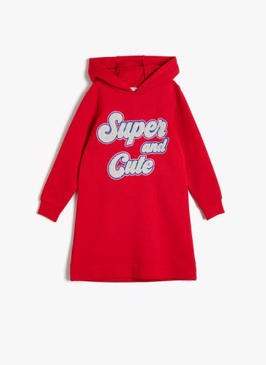 Koton Kids Kapüsonlu Elbise Kırmızı